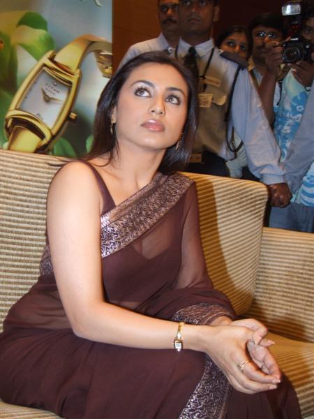 Charming question Rani mukherjee hot transparent saree right