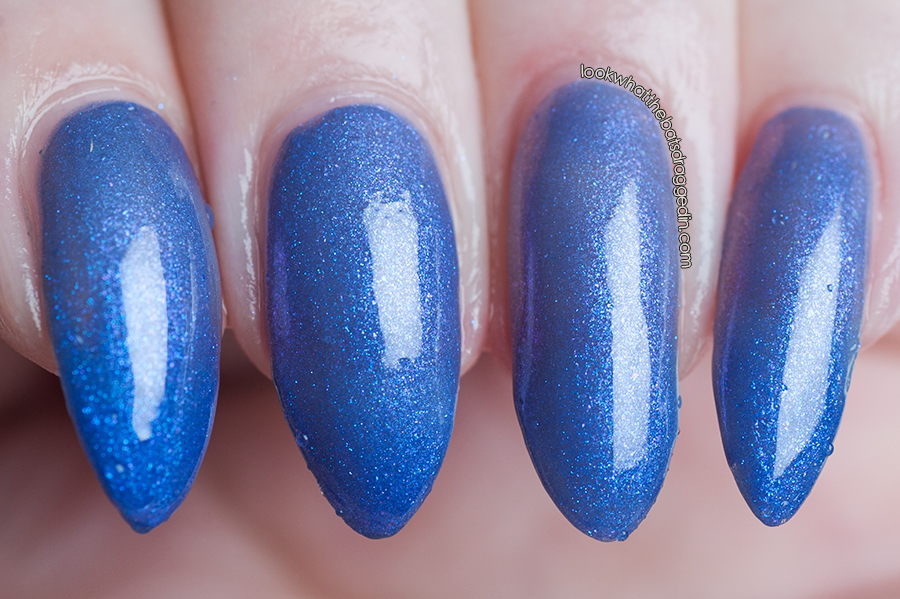 Polished by KPT Midnight Lust thermal nail polish swatch cold