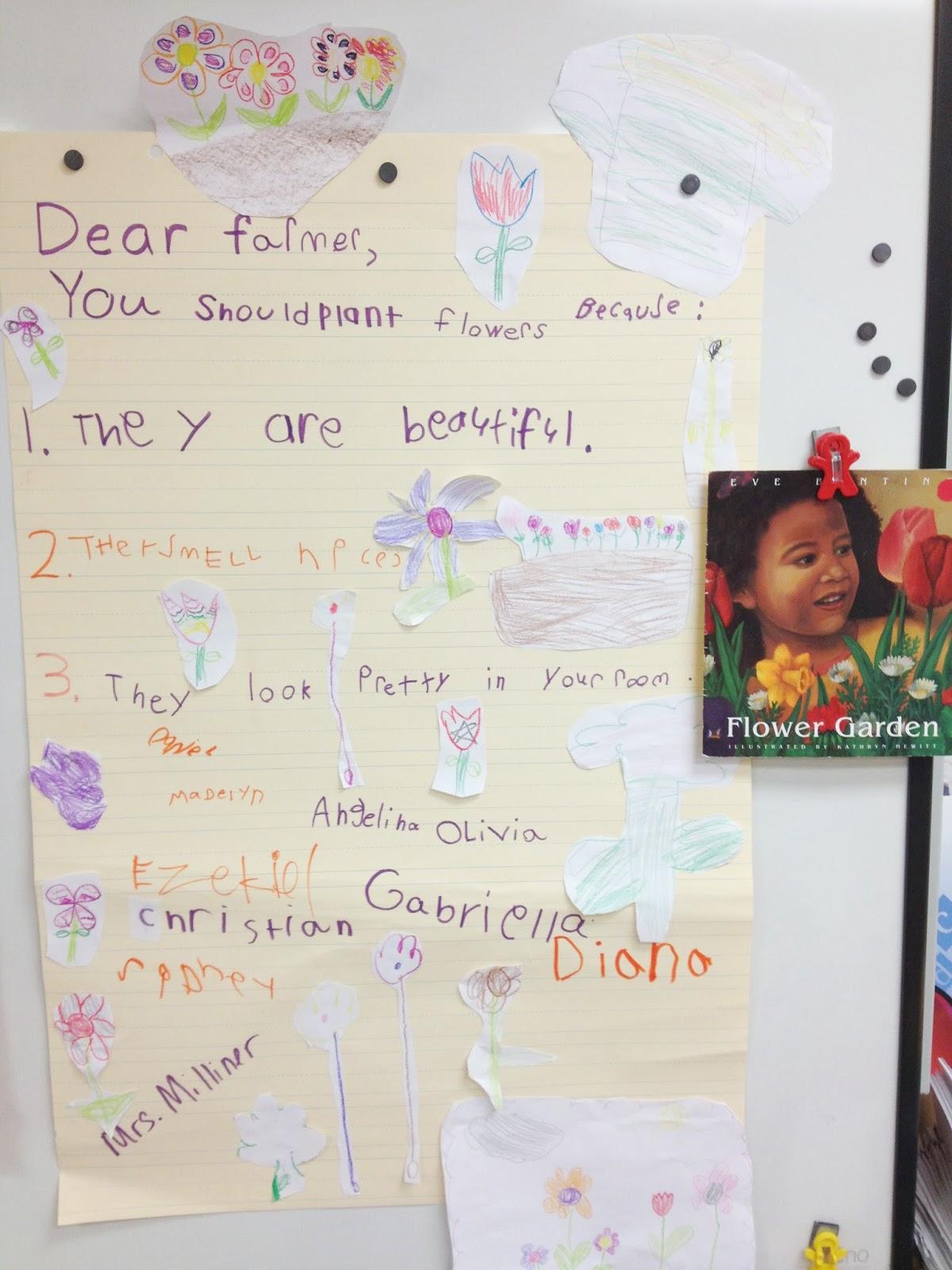 persuasive writing kindergarten