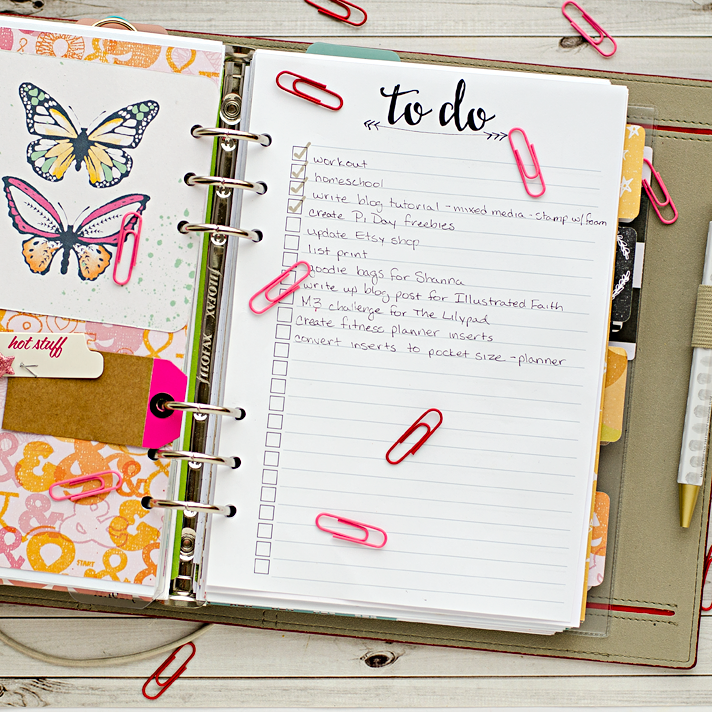 A5 planner insert printables - to do