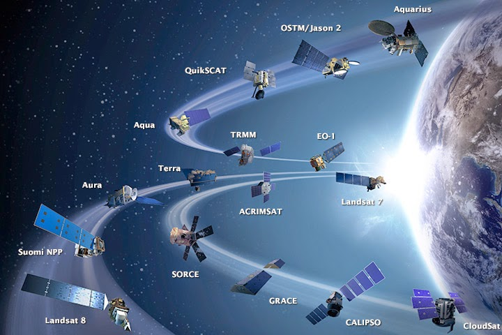 satelites de la nasa que estudian la tierra