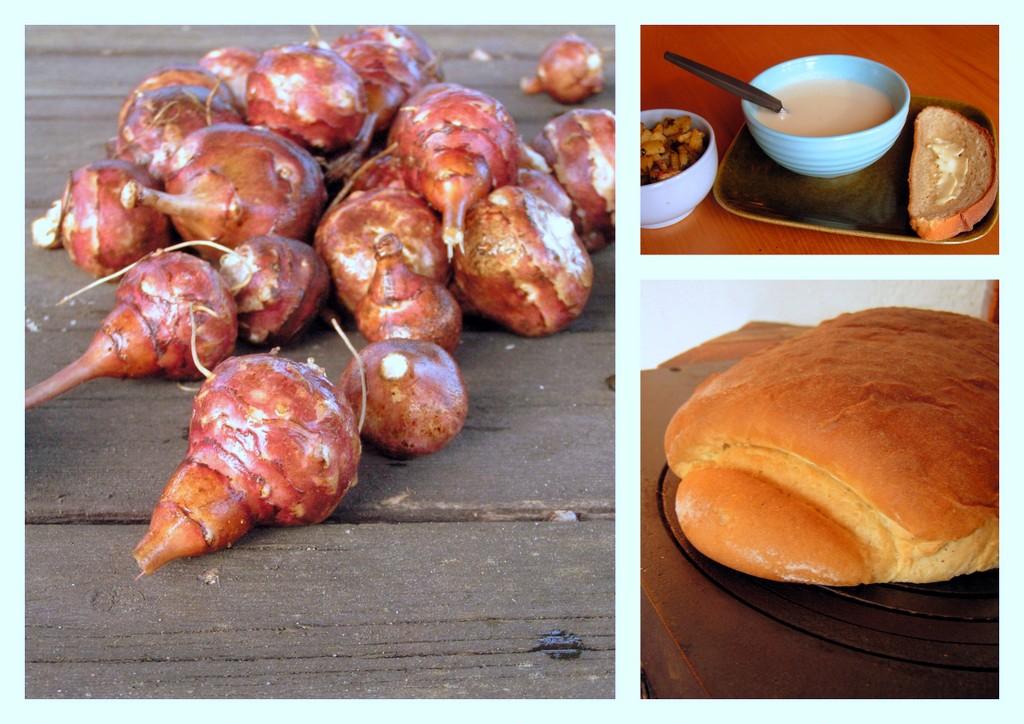hembakat bröd till soppa