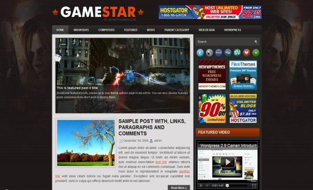 Jquery Resident Evil Games Wordpress Theme