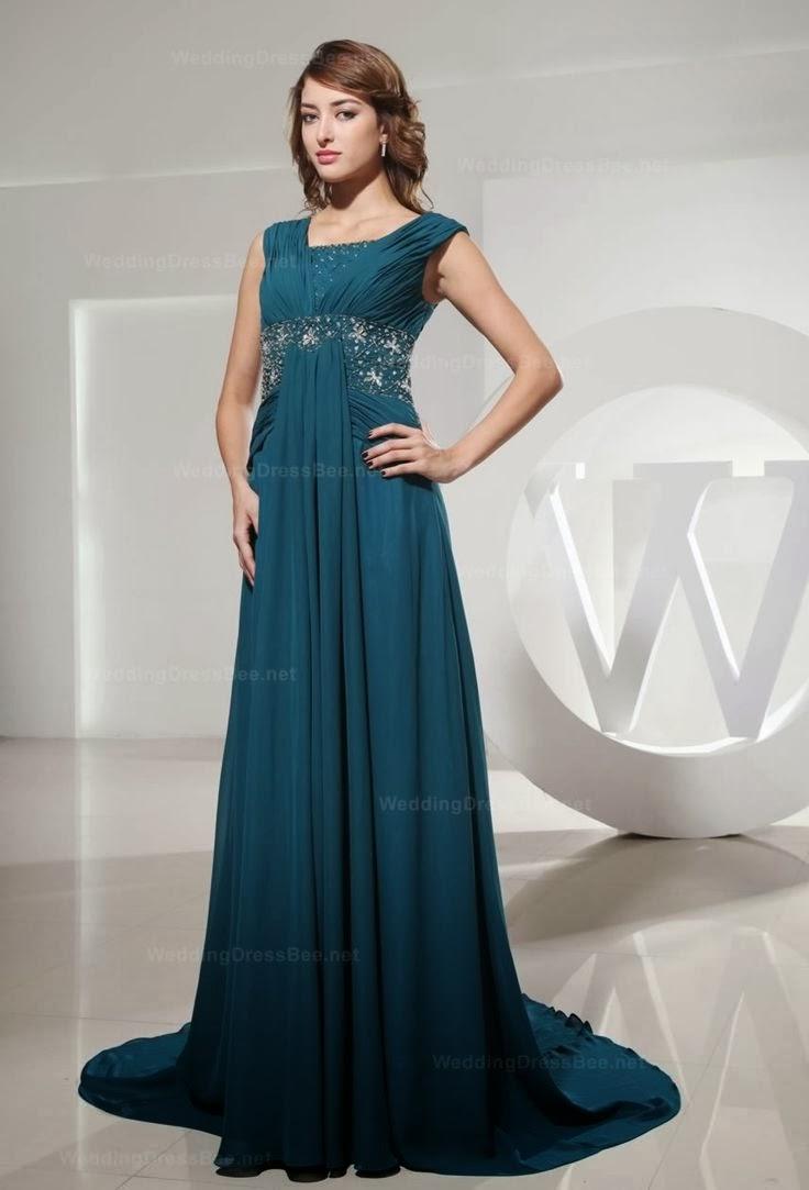 Beautiful Sleeveless Long Wedding Dress Fashion, Dark Blue Wedding Dress