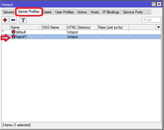 winbox mikrotik - hotspot server profiles