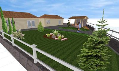 Σχεδιασμός - κατασκευή κήπου εξοχικής
