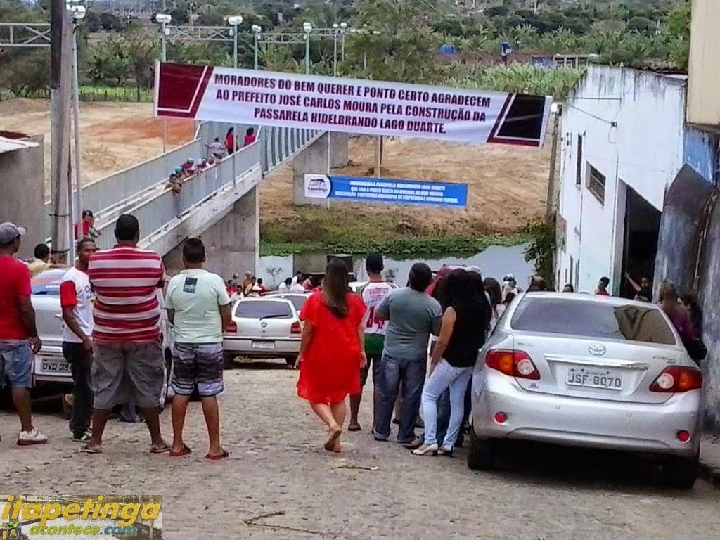 Inauguração da Passarela Hidelbrando Lago Duarte