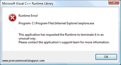 Runtime Error Virus