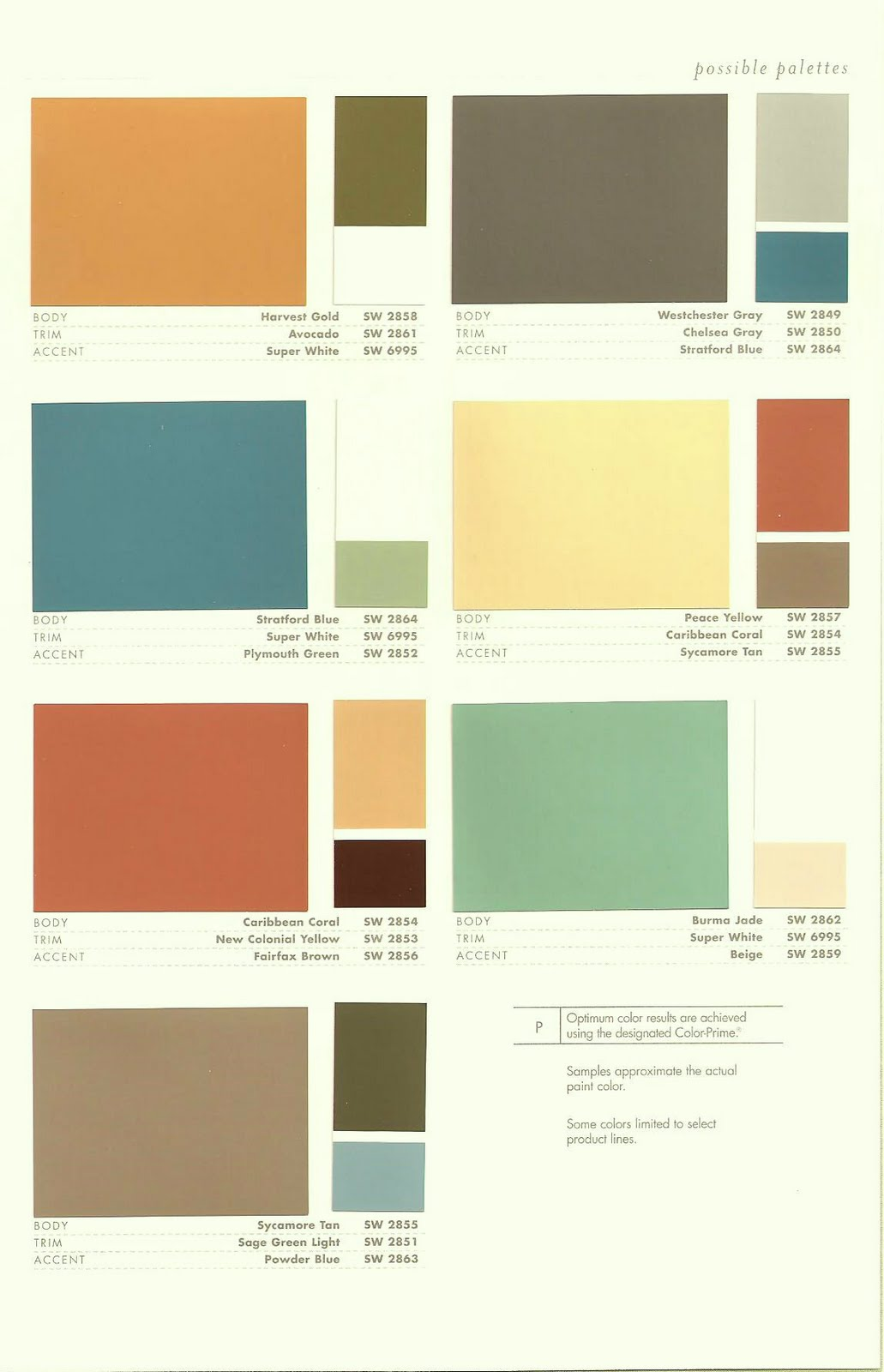 Paradise palms some mid century modern paint colors Great paint colors