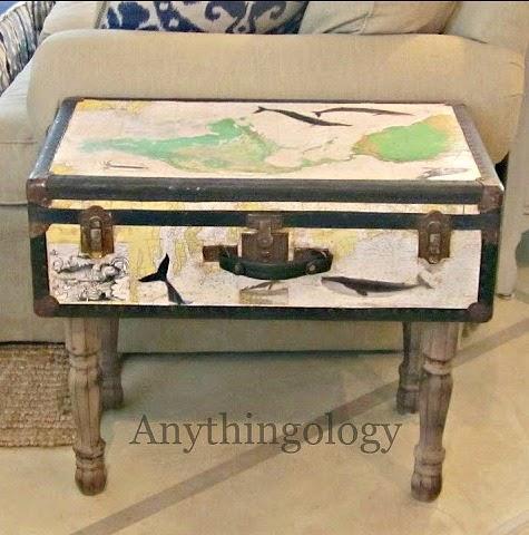 Coastal Suitcase Table