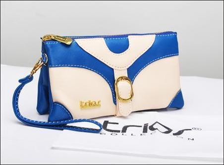 jual dompet wanita korea murah biru tua