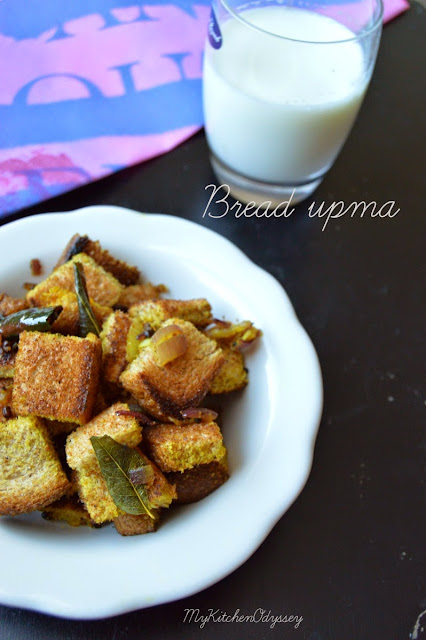 bread upma recipe2