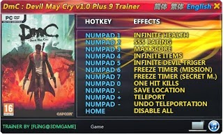 Download trainer devil may cry new