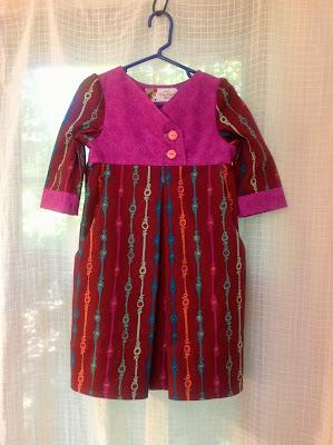Improvisational toddler dress by my amazing mom