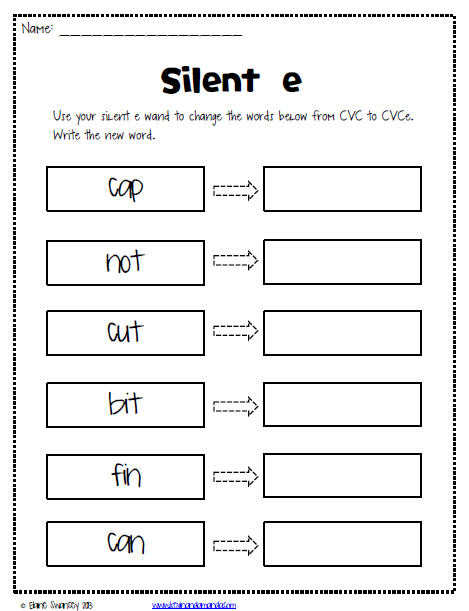 Worksheet For Be Quiet : Life in first silent e magic sneaky