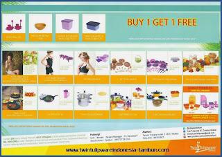 Promo 1 Free 1 & Berhadiah Tulipware November - Desember 2013