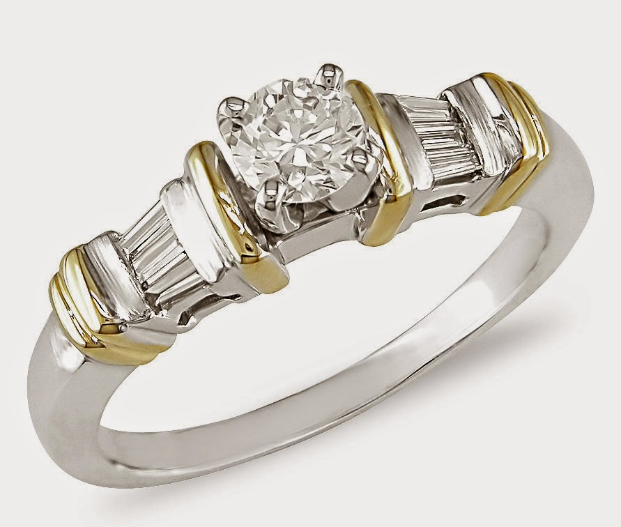 Beautiful Women's Wedding Rings Two Colour Model pictures hd