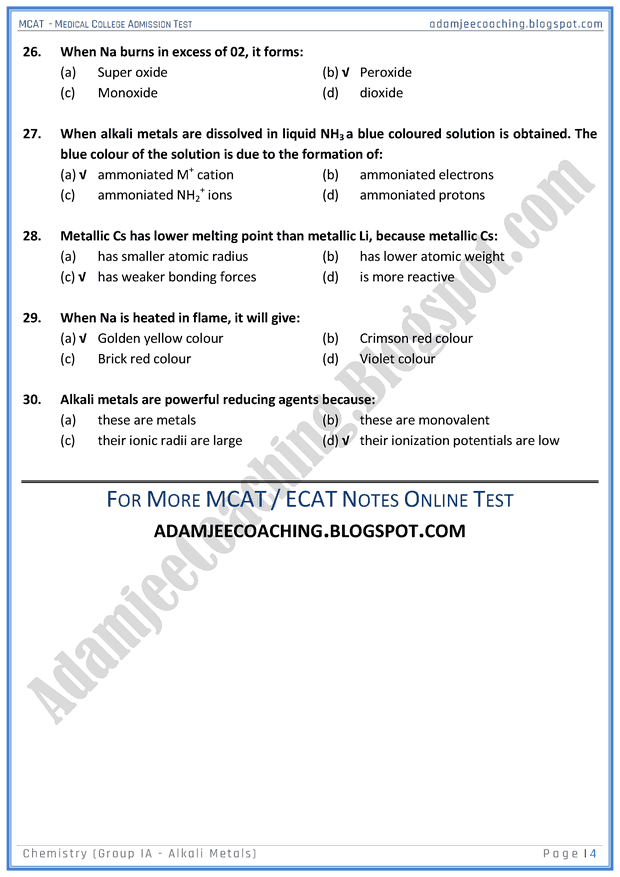 mcat-chemistry-group-ia-(alkali-metals)-mcqs-for-medical-entry-test