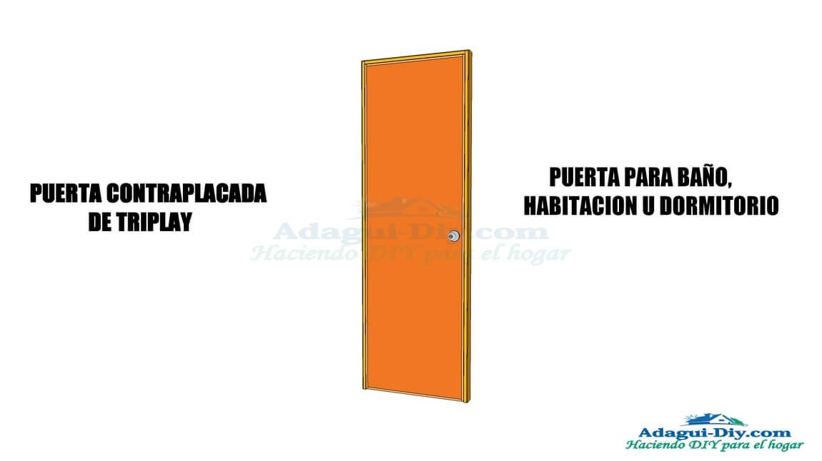 Como hacer una puerta de baño u habitación contraplacada de triplay ...