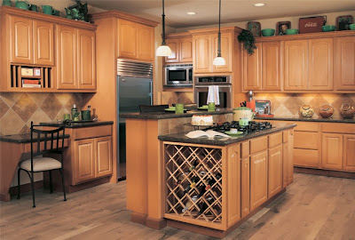 Canyon Creek cabinets in beech