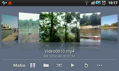 Android Video Player - Coverflow View
