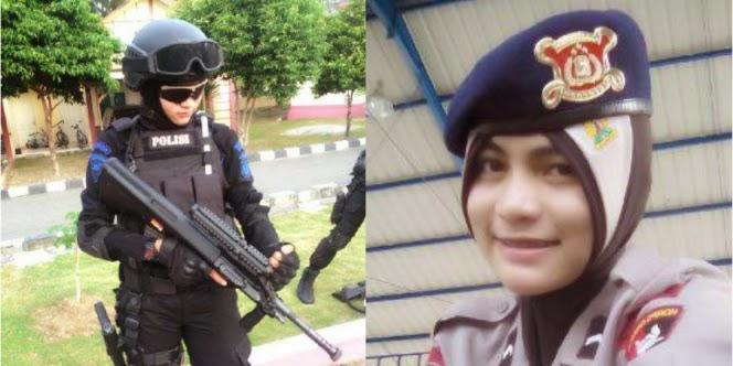 Bripda Nina, Brimob Berhijab `Menyandera Hati` Netizen