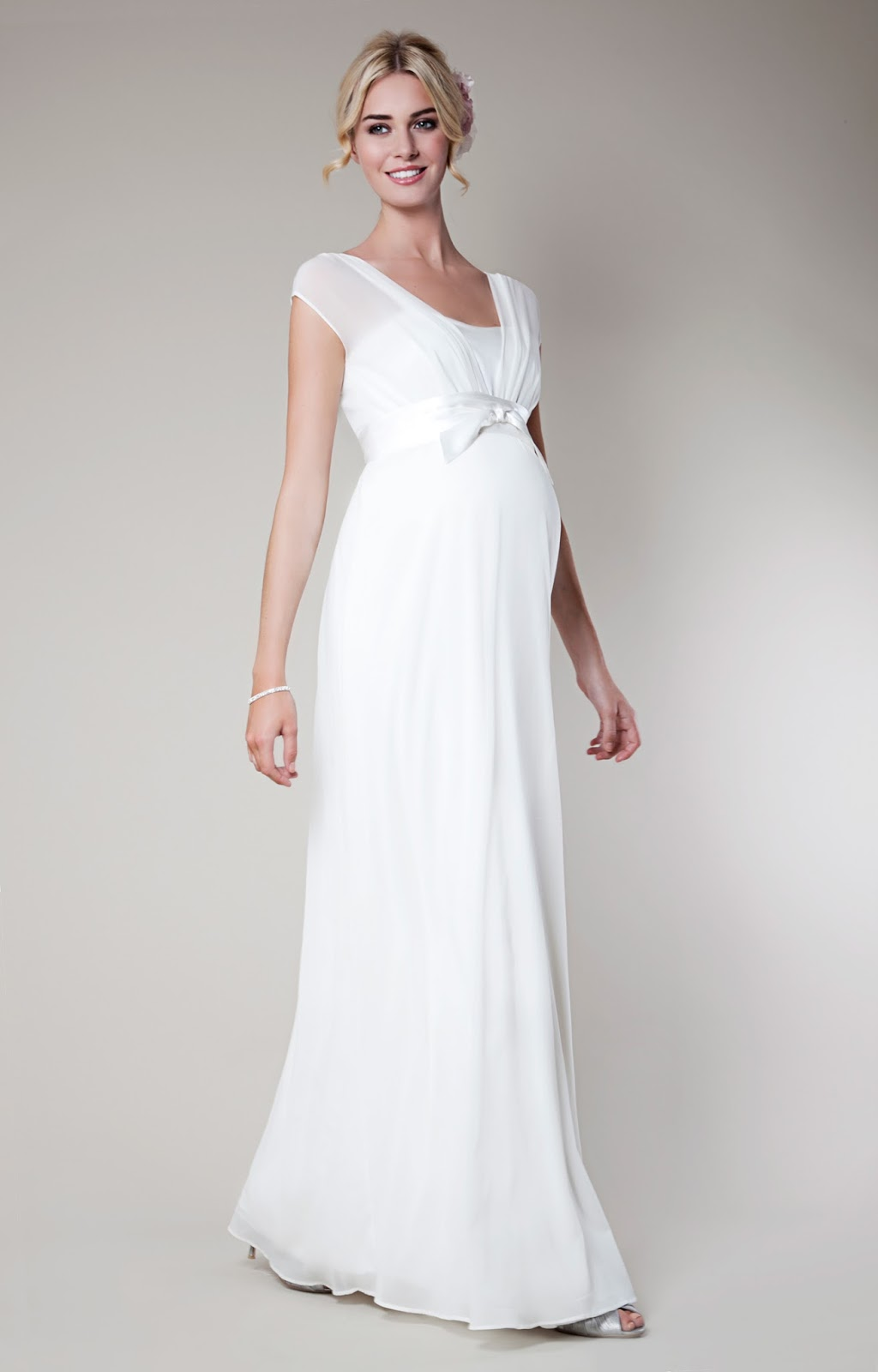 White Dress for Pregnant Women