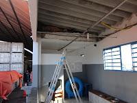 Instalação da estrutura do Forro PVC