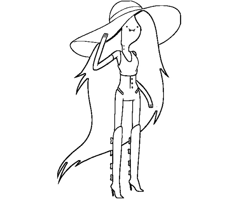 Free Coloring Pages Of Marceline Adventure Time Adventure Time Coloring Page