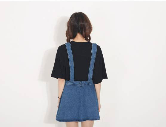 cl791 denim dungaree skirt pre order temptations