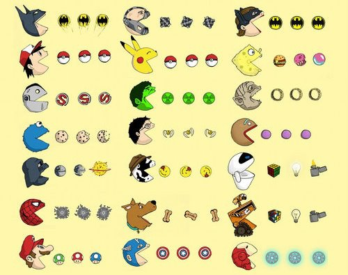 Pac-Man variados, ¡pero qué friki!