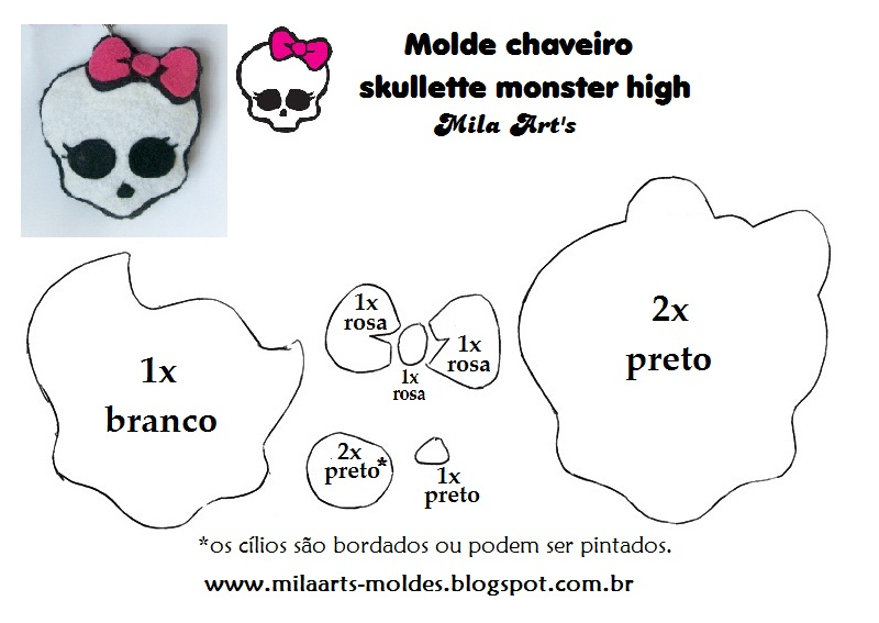 Trocando Artes: Moldes Monster High!!!