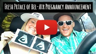Oregon couple Jesse and Melissa Meek announce their pregnancy by rapping the theme song of the 90's TV show Fresh Prince of Bel-Air via geniushowto.blogspot.com cool pregnancy announcement videos