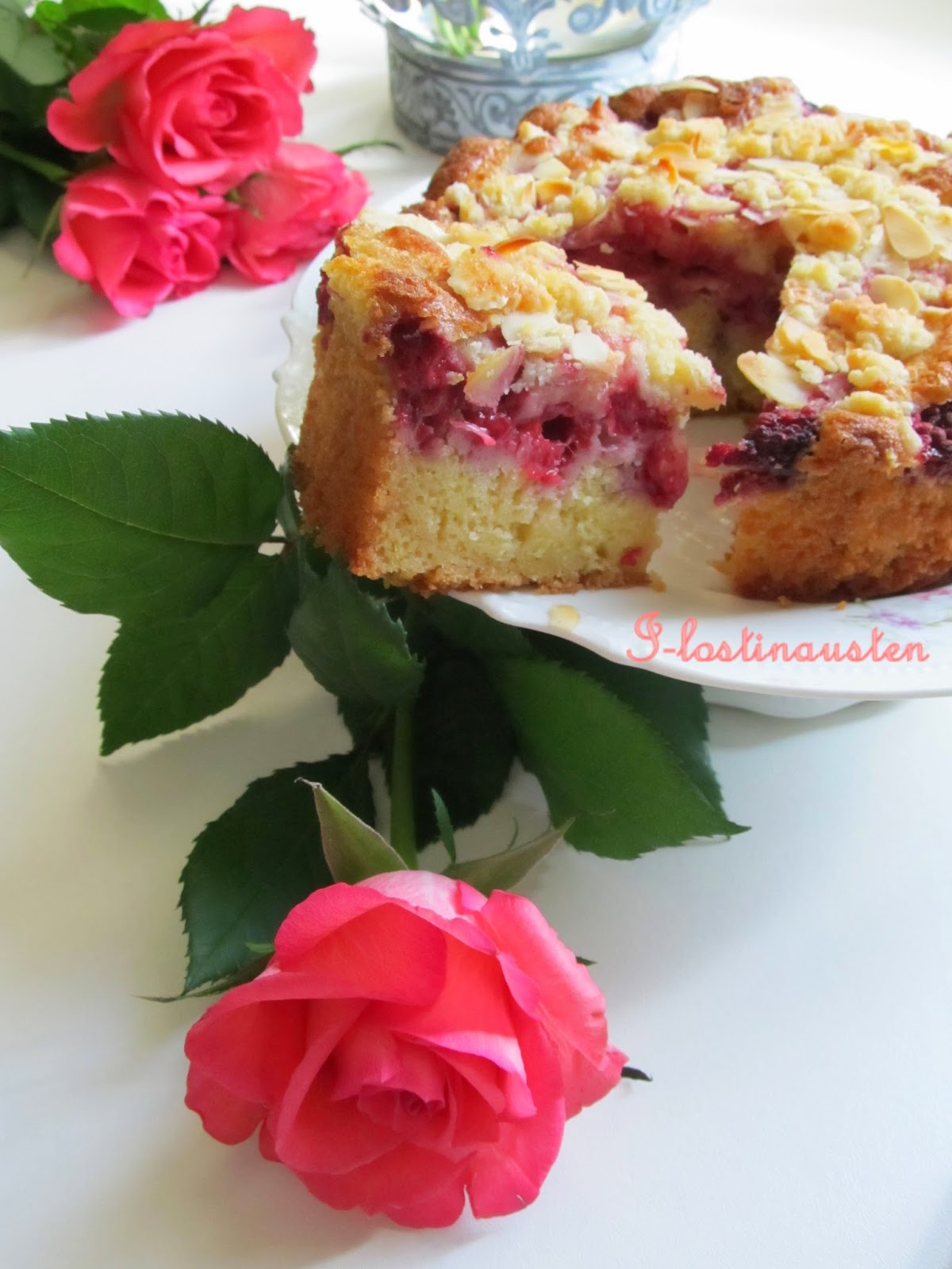 I-Lost in Austen: Raspberry - Almond Coffee Cake (THB)