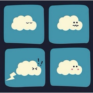 Un pedo de una nube. truenos, lluvia, tierno
