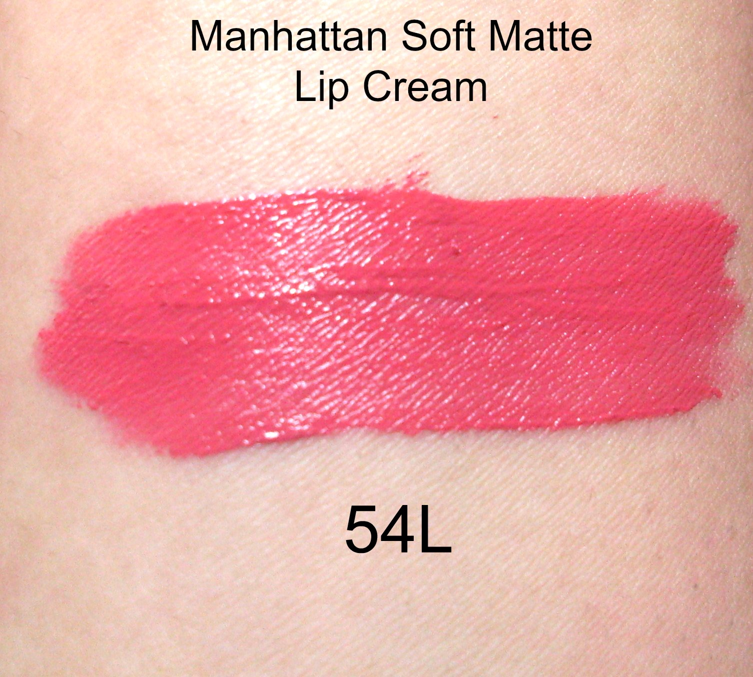Swatches of Manhattan lip cream 54l