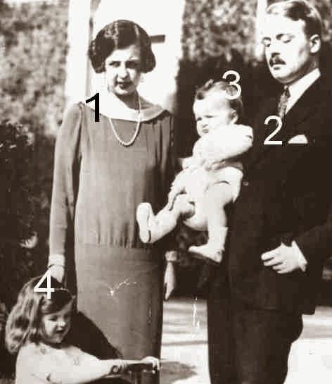 Charlotte, Pierre, Rainier et Antoinette de Monaco-Grimaldi