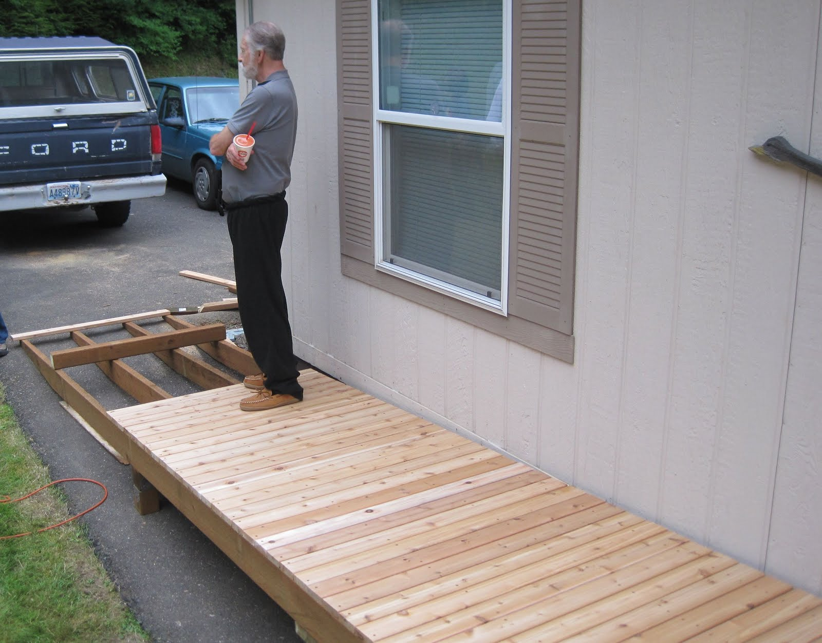 Pieceful afternoon our new deck for 4 8 meter decking boards