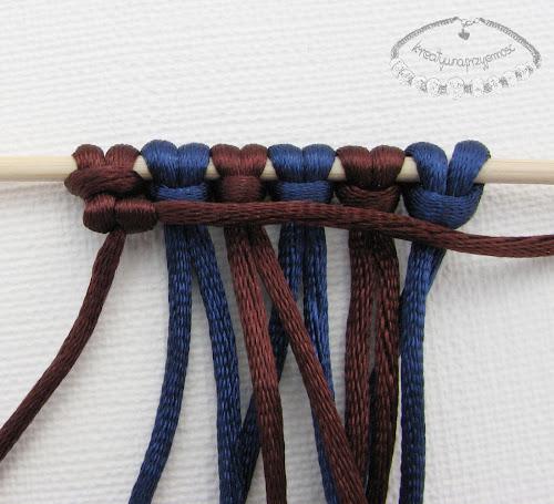 węzeł rypsowy - makrama - 11