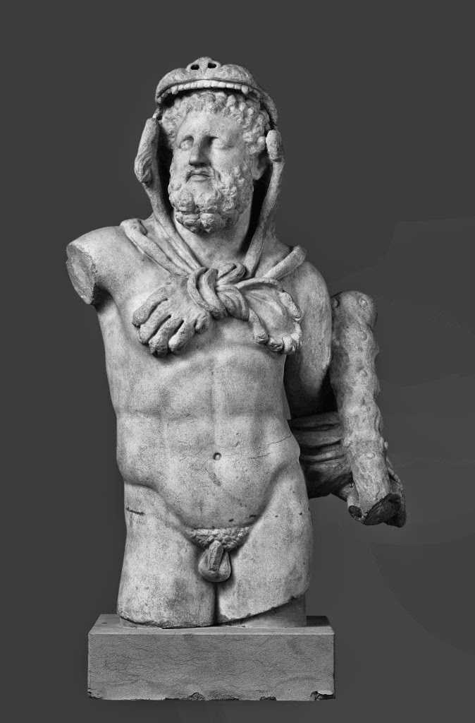 Hércules con la piel del león de Nemea. Siglo II d.C.- Staatliche Kunstsammlungen ,Dresde
