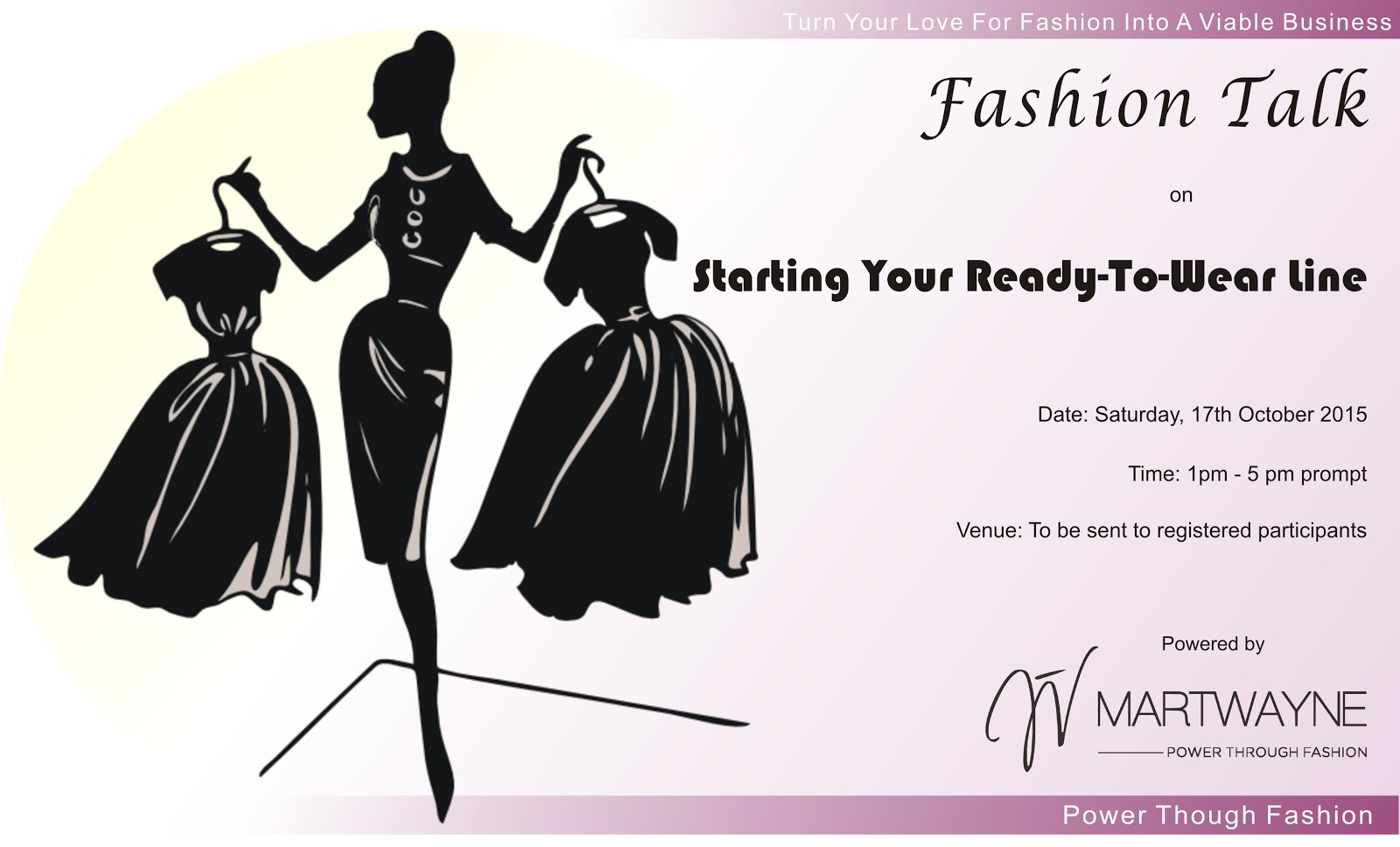 "Clips from Fashion Talk 1 on ""Starting a Ready to Wear"" Line"