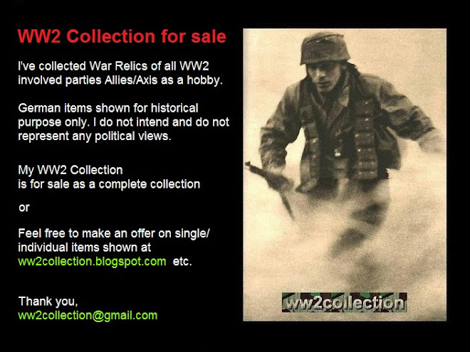 FOR SALE my Military WW2 Collection
