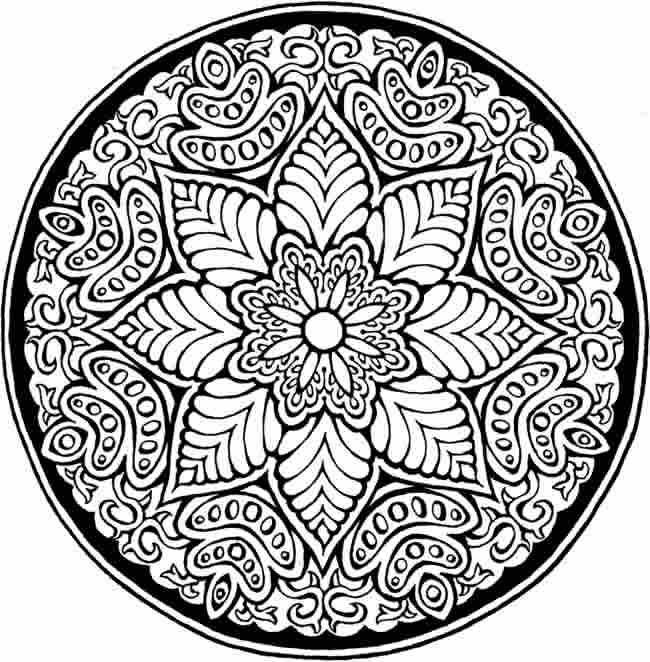 Detailed Flower Mandala Coloring Pages