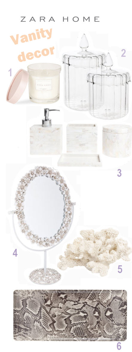 To da loos zara home pretty vanity accessories - Zara home accessories ...