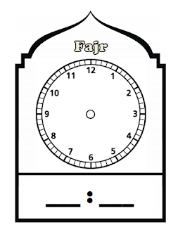 Daily Prayer Timings Clockfaces