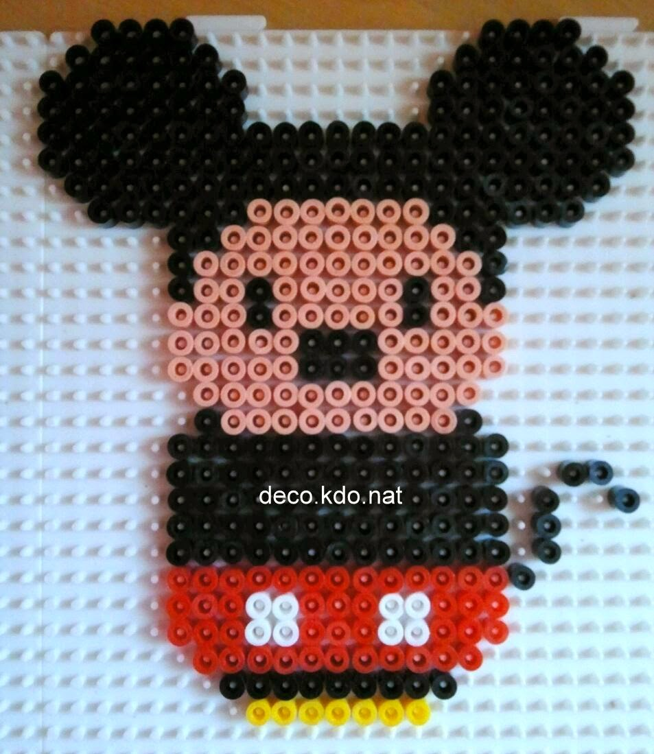 Deco kdo nat perles hama mini personnages mickey et ses amis - Mickey mouse et ses amis ...
