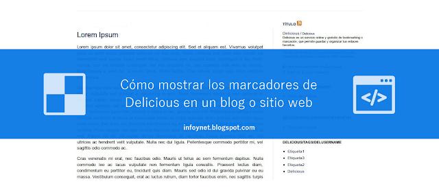 Cómo mostrar los marcadores de Delicious en un blog o sitio web