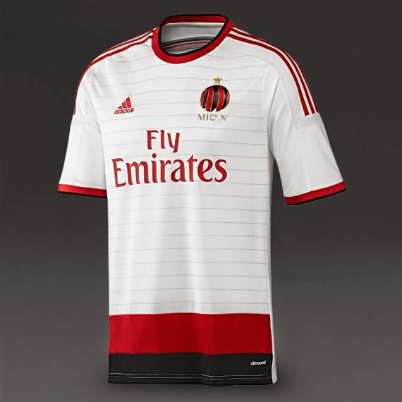 be6666fac0 En este caso usan el escudo de la Casa Milán en lugar del tradicional del  club. Usarán una elegante camiseta blanca con ...