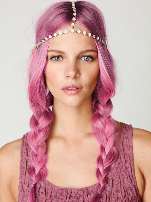 peinados 2015 pelo+rosa+trenzas