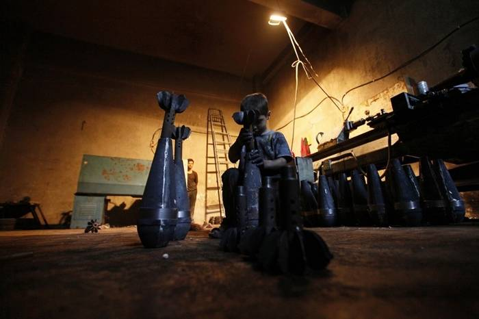 Issa, A 10-Year-Old Boy Making Arms For Syrian Rebels